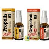 Propolis Cu Argint Coloidal Fara Alcool Spray 20ml + Grapefruit Cu Argint Coloidal Fara Alcool Spray 20ml Pachet