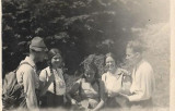 Fotografie sasi in excursie Sebes Alba Transilvania 1932
