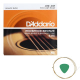 Cumpara ieftin Set corzi chitara acustica D'addario EJ15 si pana cu coarda