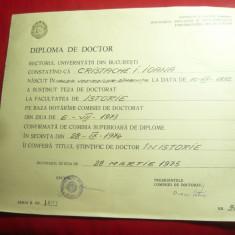 Diploma Doctor - Facultatea de Istorie 1973-1975