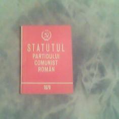 Statutul Partidului Comunist Roman