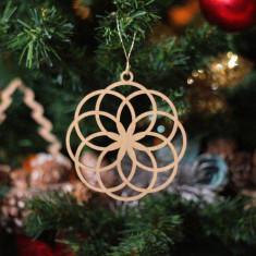 Ornament Brad - Floare Gheata