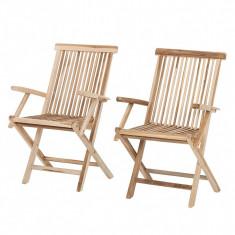 Set de 2 scaune Teakline Classic II din lemn masiv foto