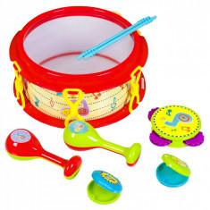 Set instrumente muzicale, 28x13x29cm, 7buc.,cu sunete,multicolor