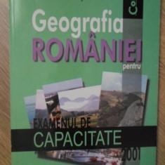 GEOGRAFIA ROMANIEI PENTRU EXAMENUL DE CAPACITATE 2001 - OCTAVIAN MANDRUT