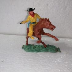 bnk jc Figurina de plastic - Timpo - cowboy calare