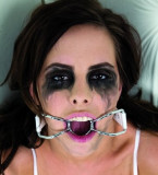 Spider Gag Restraint - Sex Toy Calus O-Ring Metalic Curea Piele Eco Reglabila