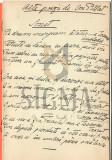 """MANUSCRIS, ION PILLAT, """" ALTE POEZII -SONET """" , 6 PAGINI - DE VORBA CU MINE INSU-MI (Desene de ISER), 1913, Bucuresti"""
