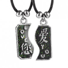 Colier cu două piese - LOVE YOU cu caractere chinezești