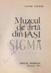 MUZEUL DE ARTA DIN IASI - CLAUDIU PARADAIS