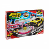 Set de joaca cu 2 masinute High Speed 3 Level Racing Track Motormax