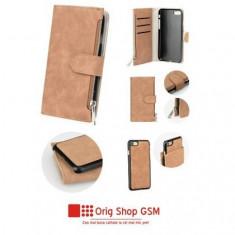 Husa Flip Carte COMMODORE Sams G950 Galaxy S8 Maro
