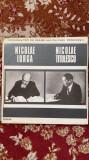 Disc vinyl/personalitati de seama ale culturii romanesti,n.iorga si n.titulescu, VINIL, electrecord