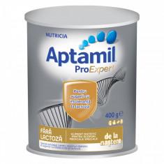 Lapte praf de inceput Aptamil fara lactoza, 400 g