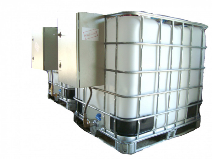 bazin ibc rezervor motorina cu pompa transfer si contor