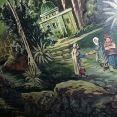 tablou vechi cu pictura superba semnata si datata,pictura veche inramata,T.GRATU