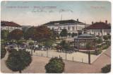 #2468- Romania, Orsova, carte postala circulata 1919: Parcul Freyler, animat