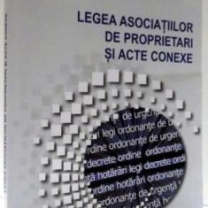 LEGEA ASOCIATIILOR DE PROPRIETARI SI ACTE CONEXE , 2012