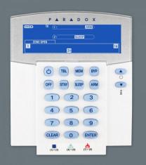 Tastatura Paradox K37 LCD cu pictograme( icoane)- radio compatibilitate: SP - necesita RTX3, MG Stay D emitator-receptor încorporat (433Mhz) afişeaza foto