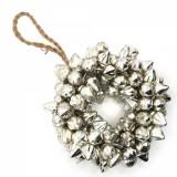 Ghirlanda ornamentala sticla argintie