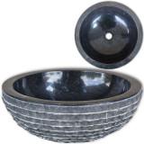 Cumpara ieftin Chiuvetă, negru, 40 cm, marmură