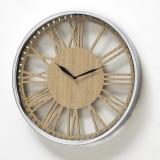 Ceas de perete Callisto Crom / Natural, Ø40 cm