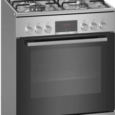 Aragaz pe Gaz Bosch HXN39AD50 4 arzatoare 7 functii gatire cuptor electric Clasa A Gri