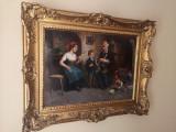 Tablou autentic Kolozsvary Lajos, Scene gen, Ulei, Impresionism