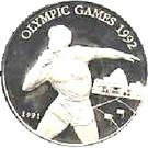 Samoa 10 Tala 1991 (Aruncare greutate) Argint 31.47g /925, Aoc1 KM-82 UNC !!!