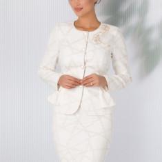 Compleu Leonard Collection alb cu imprimeu chain auriu