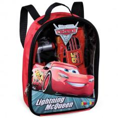Rucsac Smoby cu unelte si masinuta McQueen