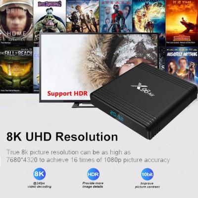 TV BoX PC X96 Air 8K-3D,Arm Cortex Quad-Core,2gb Ram,16gb,Wi-fi,Android 9.0,Noi foto