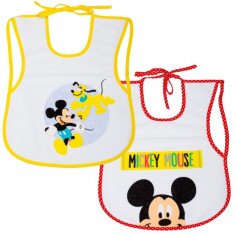 Set 2 bavetele Mickey Disney Eurasia, 25 x 35 cm, 0 luni+