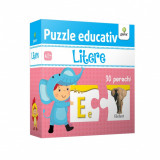 Puzzle educativ. Litere