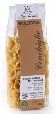 Marchesato Paste conchiglie din amarant, teff si quinoa bio fara gluten 250g foto