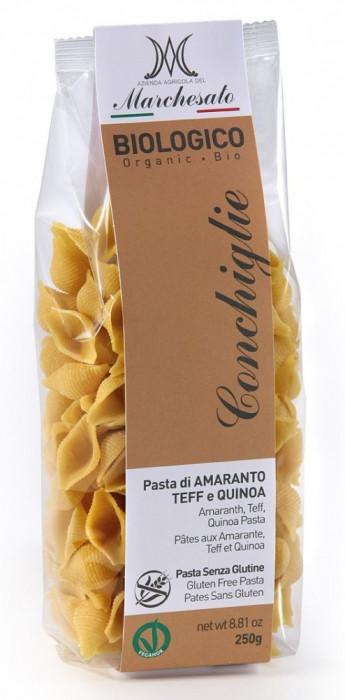 Marchesato Paste conchiglie din amarant, teff si quinoa bio fara gluten 250g