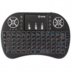 Tastatura Iluminata Wireless i8 Air Mouse cu Touchpad pentru TV Box si Mini PC, Android OS, Smart TV, PC, Laptop
