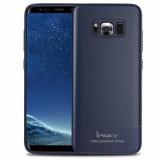 Husa Ipaky Fibre Carbon Albastra Pentru Samsung Galaxy S8 Plus G955