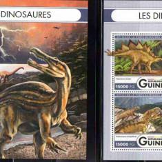GUINEEA 2016, Fauna, Dinozauri, serie neuzata, MNH