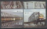 LETONIA  2018  EUROPA CEPT - PODURI - Serie 2 timbre Mi.1043-44A MNH**, Nestampilat