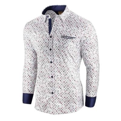 Camasa pentru barbati alba flex fit cu model Soiree d automne II foto