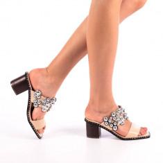 Papuci dama Alina bej