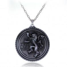 Pandantiv Medalion Lantisor Game Of Thrones Lannister Hear Me Roar
