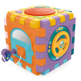Jucarie interactiva bebelusi - cub demontabil cu activitati, lumini, sunete si forme colorate