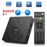 Cumpara ieftin Android 8.1 Tv Box MediaTek HK1, Media Player, Quad-Core MediaTek, 2gb Ram,16gb Rom, WI-FI