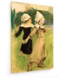 Tablou pe panza (canvas) - Paul Gauguin - Study for Breton girls at the dance