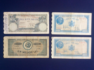 Bancnote România - Lot bancnote românești - starea care se vede (7) foto