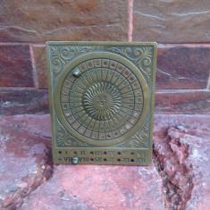 Vechi calendar din bronz !!!