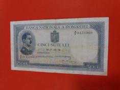 Bancnote romanesti 500lei 1939 fara supratipar rara foto