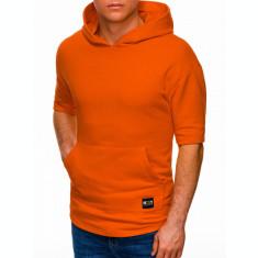 Hanorac cu maneca scurta barbati B1304 - portocaliu